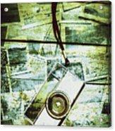 Old Retro Film Camera In Creative Composition Acrylic Print