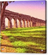 Old Roman Aqueduct Acrylic Print