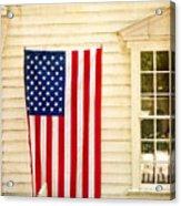 Old Rugged Field Flag Acrylic Print