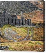 Old Ruin At Cwmorthin Acrylic Print