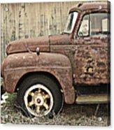 Old Rust Truck Acrylic Print