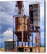 Old Rusted Grain Silo - Utah Acrylic Print