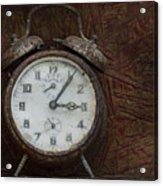 Old Rustick Clock Acrylic Print