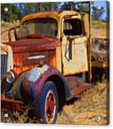 Old Rusting Flatbed Truck Acrylic Print