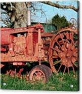 Old Rusty Tractors Acrylic Print