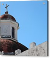 Old San Juan Puerto Rico Downtown Church Acrylic Print