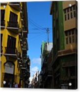 Old San Juan Puerto Rico Downtown On The Corner Acrylic Print