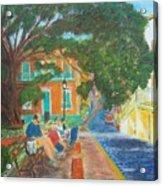 Old San Juan Street Scene Acrylic Print