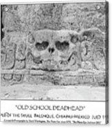 Old School Dead Head Acrylic Print