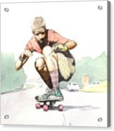 Old School Skater Acrylic Print