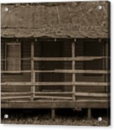 Old Shack In Sepia Acrylic Print