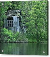Old Shed On The Lake Acrylic Print by Marjorie Imbeau