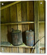 Old Shed Storage Acrylic Print