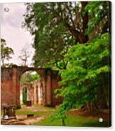 Old Sheldon Church Ruins 3 Acrylic Print