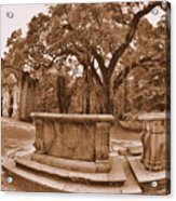 Old Sheldon Church Ruins Beaufort Sc Sepia Acrylic Print