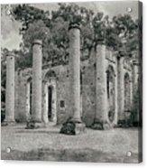 Old Sheldon Church Ruins, South Carolina Acrylic Print