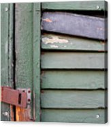 Old Shutters French Quarter Acrylic Print