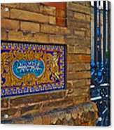 Old Sign Outside The Royal Tobacco Acrylic Print