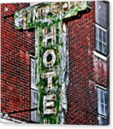 Old Simpson Hotel Sign Acrylic Print
