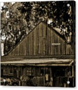 Old Spanish Sugar Mill Sepia Acrylic Print by DigiArt Diaries by Vicky B Fuller