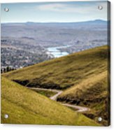 Old Spiral Highway To Lewiston Acrylic Print