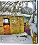 Old Stable - Silent Winter Acrylic Print