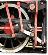 Old Steam Locomotive Wheels Acrylic Print