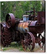 Old Steam Tractor Acrylic Print
