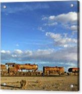 Old Steam Trains And Big Skies Bolivia Acrylic Print