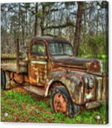 Old Still Art 1947 Ford Stakebed Pickup Truck Ar Acrylic Print