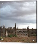 Old Stock Corral On The Rez Az. Acrylic Print