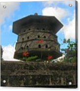 Old Stone Chinese Bird House Acrylic Print