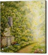 Old Stone Cottage Acrylic Print