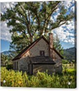 Old Stone Ranch Structure Acrylic Print