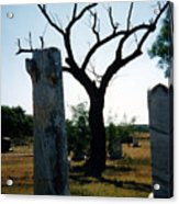 Old Stones In Old Cementery Acrylic Print