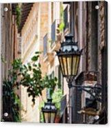 Old Street Light In Barcelona, Spain Acrylic Print