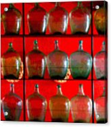 Old Tequila Jugs By Darian Day Acrylic Print