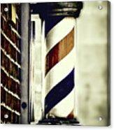 Old Time Barber Pole Acrylic Print