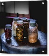 Old-time Canned Goods Acrylic Print