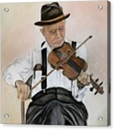 Old Time Fiddler Acrylic Print