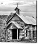 Old Time Religion Bw Acrylic Print