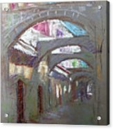 Old Town In Rhodes  Greece Acrylic Print