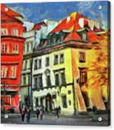 Old Town In Warsaw # 27 Acrylic Print