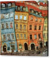 Old Town In Warsaw # 32 Acrylic Print