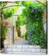 Old Town Of Provence Street Acrylic Print