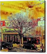 Old Town Panorama Acrylic Print
