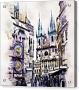 Old Town Square In Prague Acrylic Print
