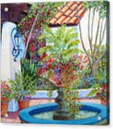 Old Town Water Fountain Acrylic Print