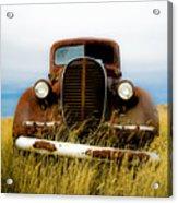 Old Truck In Field Acrylic Print