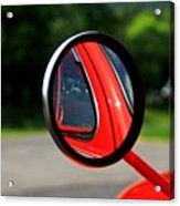 Old Truck Mirror Reflection Acrylic Print